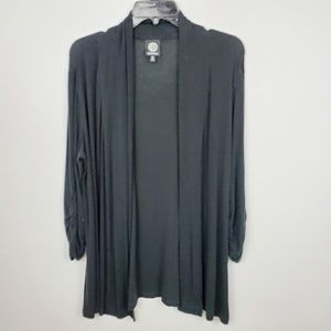 Bobeau black quarter Sleeve cardigan. J20